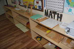 math station at Kidz Camp Montessori School - Plano, TX