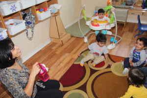 teacher with infant montessori class - plano, tx